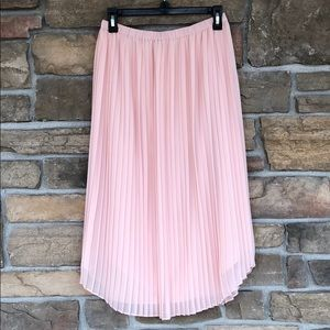 Like-New! Chelsea28 Pleated Midi Skirt Blush Sz S